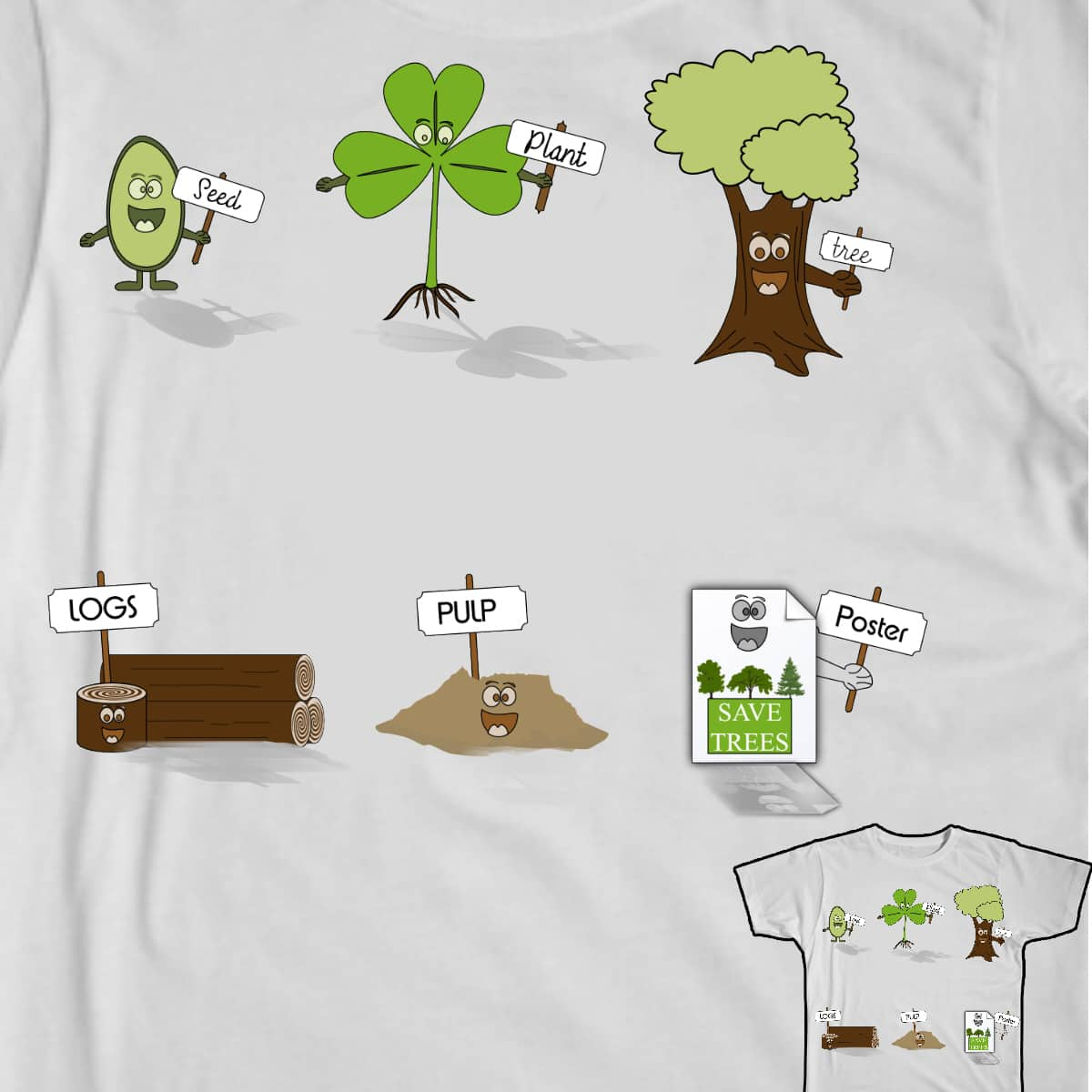 Life Cycle of Plant by GETHUED on Threadless