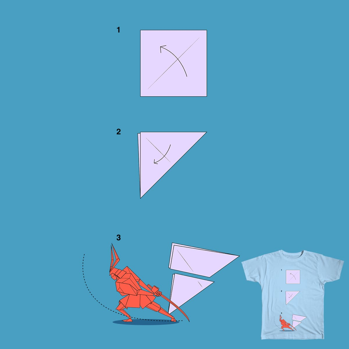 score little hanzo does origami by itsjeyboy on threadless