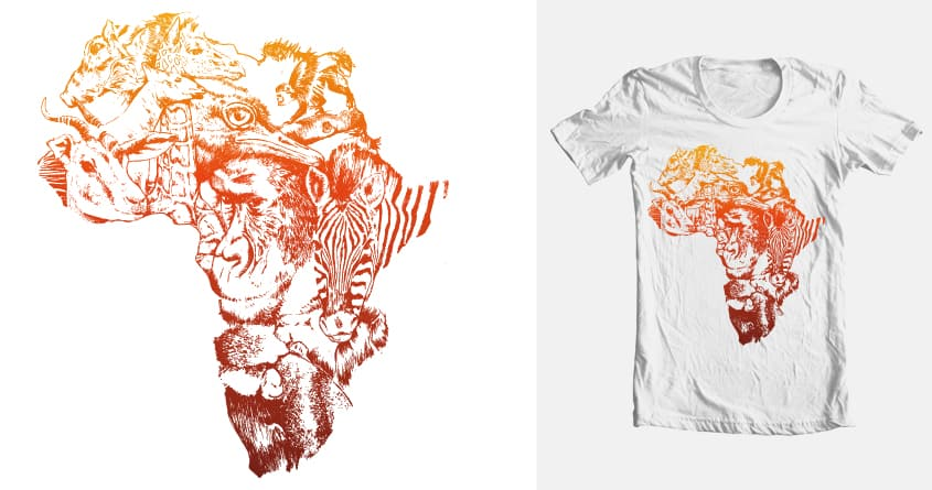 Afrika Wildlife by Joostdesign on Threadless