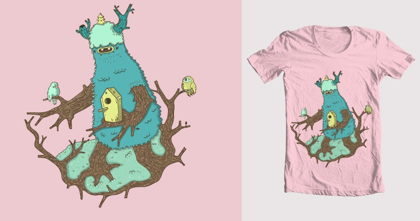 BIRD MONSTER!!! by JAKOB GI on Threadless