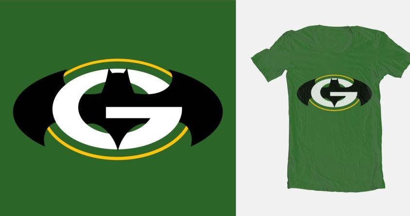 batman packers shirt
