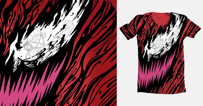 Crimson Carnage by Benjamin Ang on Threadless