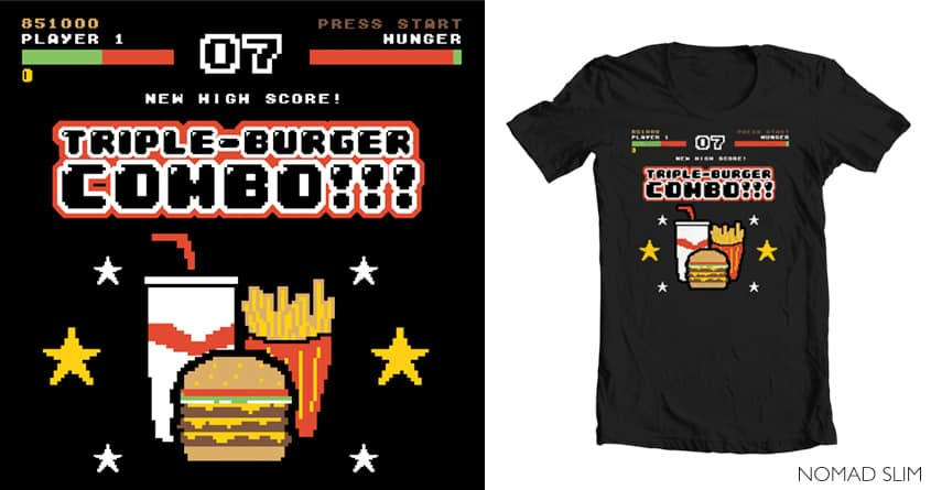 Triple Burger Combo!!! by NomadSlim on Threadless