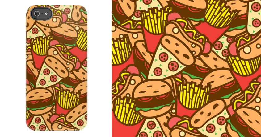 Burger, Hotdog, Pizza and Fries by krisren28 on Threadless