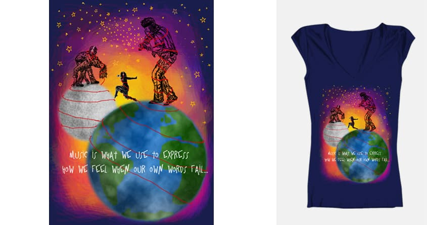 My Soundtrack... My Inspiration by CailinMarie on Threadless