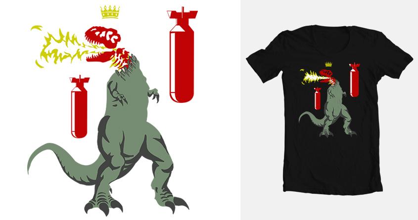 Dinosaur Tyrant by conricks on Threadless