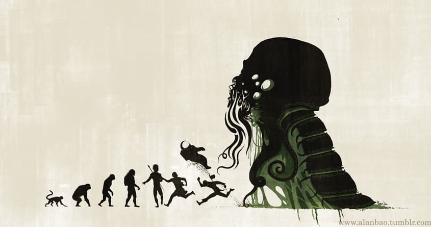 Lovecraftian Darwinism by AlanBao on Threadless