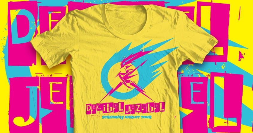 Decibel Jezebel - Screaming Harlot Tour 2050 by euphospug on Threadless