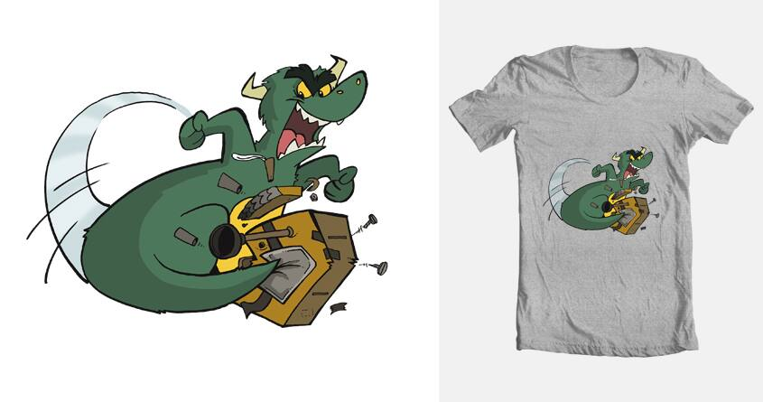 Dragon v Robot by ThePuppetBox on Threadless