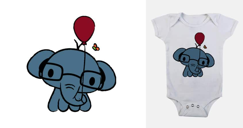 Cute Elephant with Balloon by mijnza on Threadless