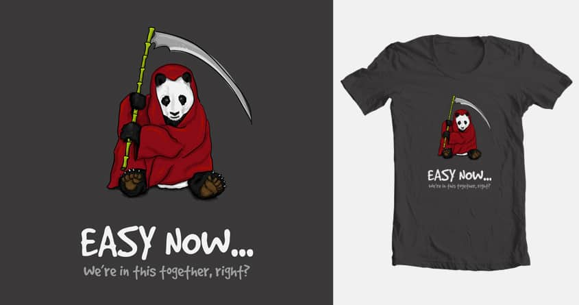 The Grim Panda (or Nature's Revenge) by adamlofting on Threadless