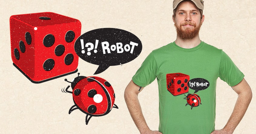 Ladybug & Robot by maxter on Threadless