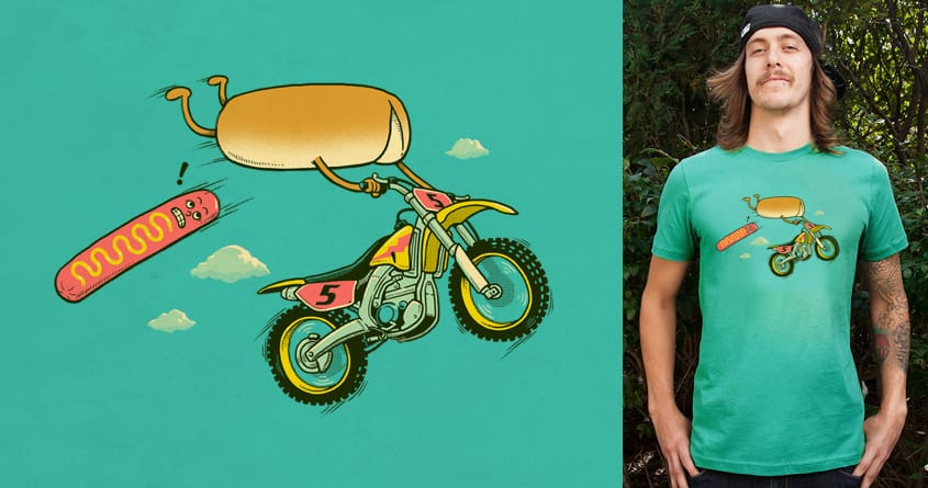 Motocross Accident by ben chen on Threadless