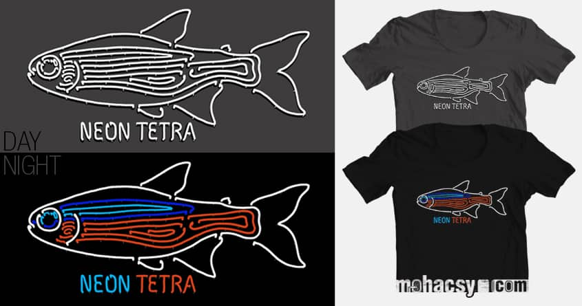 neon tetra by Andreas Mohacsy on Threadless