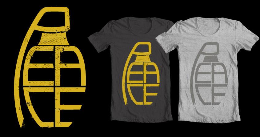 Peace Grenade Typography by jon.hernandez on Threadless
