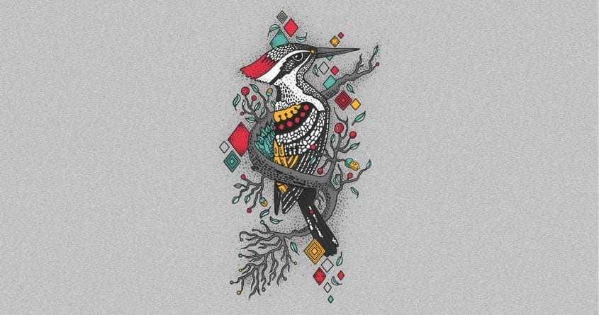 The woodpecker forest by Chamuko on Threadless