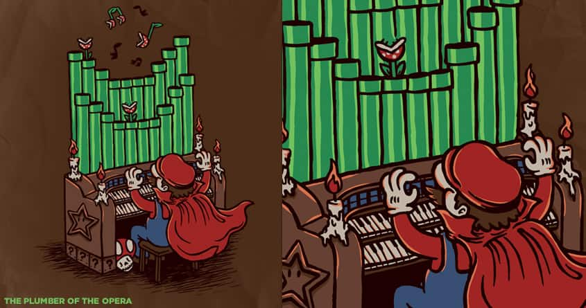 The Plumber of The Opera by WanderingBert on Threadless