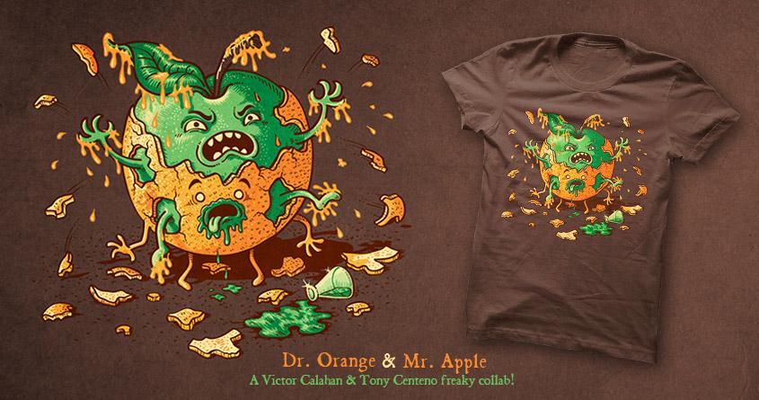 Dr. Orange & Mr. Apple by Tony Centeno and v_calahan on Threadless