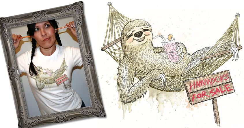 Mr. Sloth, Hammock Salesman of the Year by Luke... on Threadless