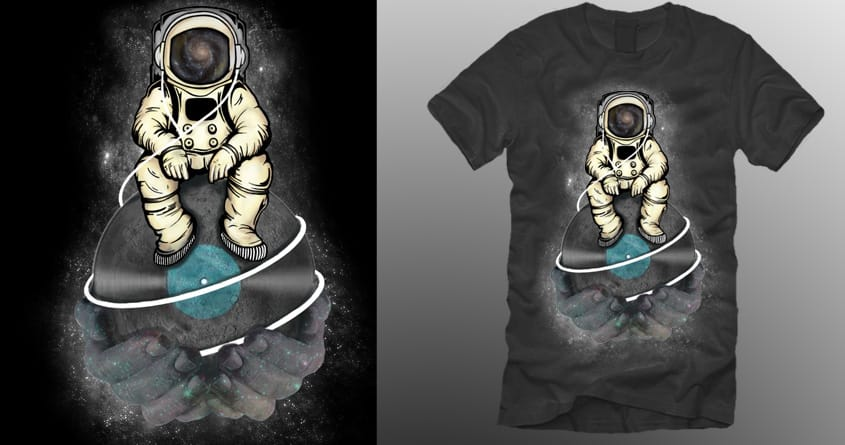 Man On the Moon  by artsclothing on Threadless