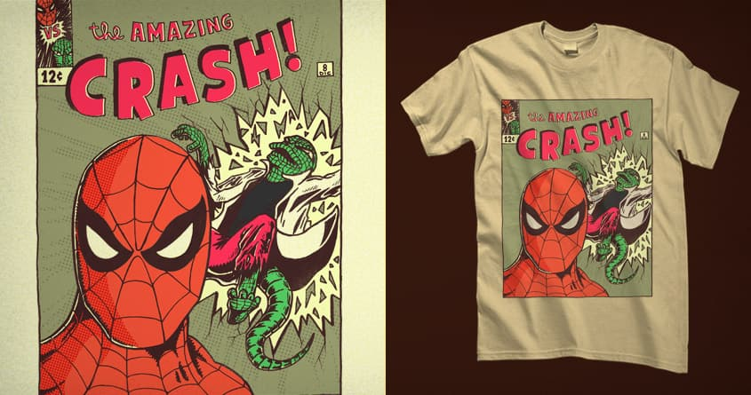 Spiderman vs Lizard by Raulio on Threadless