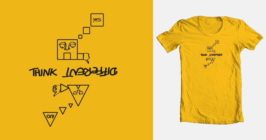 think different by brickzombi on Threadless
