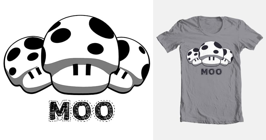 Moo Shrooms by hamelot on Threadless