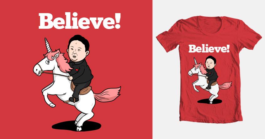 c74c09695 Score Kim Jong-un riding a unicorn by broomvondle on Threadless
