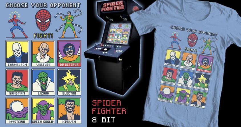 Spider Fighter 8 Bit by tomburns on Threadless