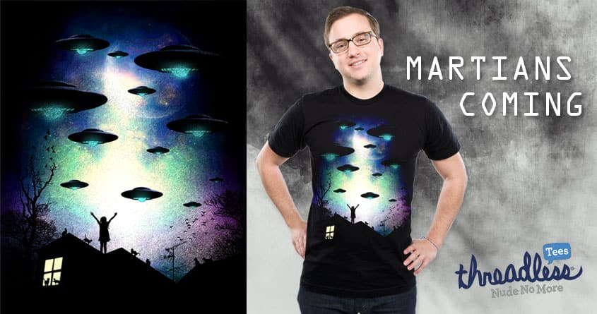 Martians Coming by chingmoncheng on Threadless