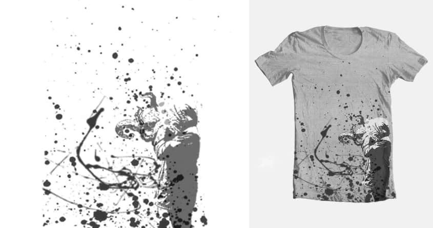 Splatter Maddness by LucasGraphics on Threadless