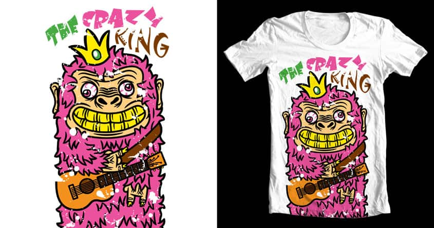 The Crazy King by krisren28 on Threadless