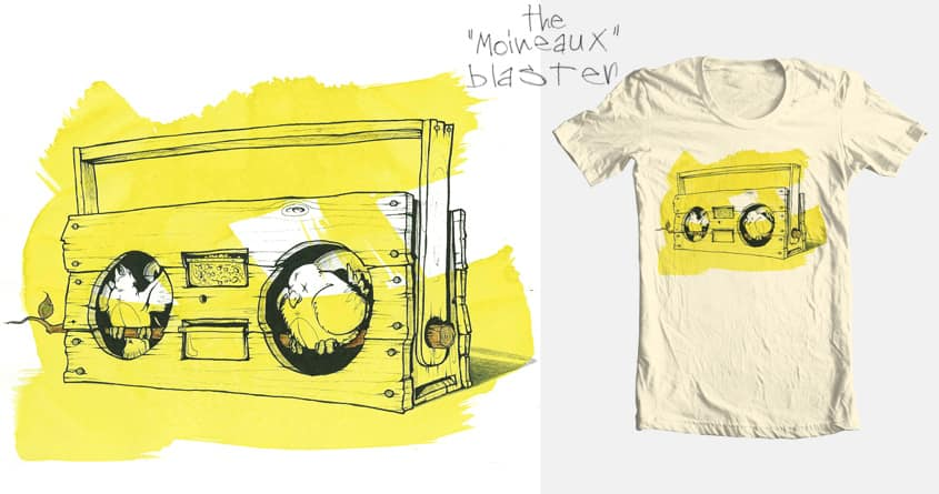 "The ""Moineaux"" Blaster by laurent.claveau on Threadless"