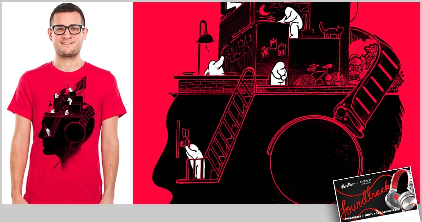 Everyday is a New Soundtrack by anwarrafiee on Threadless