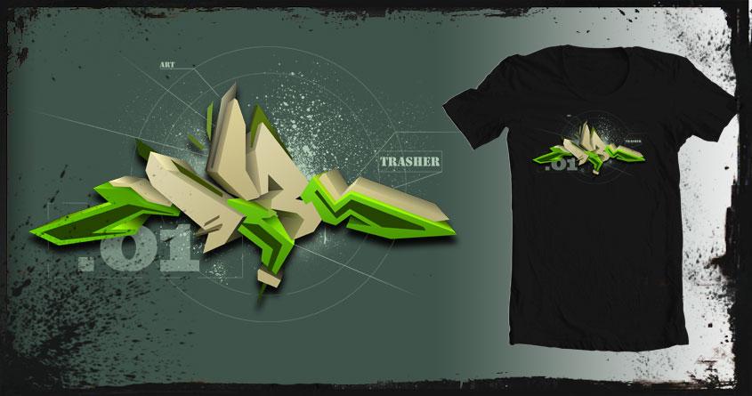 Trasher 3D by filip.t.tsarov on Threadless