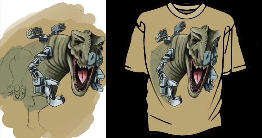 Mech T-Rex by SimonTman on Threadless
