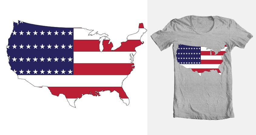 Patriotic United States of America by AJNolan on Threadless