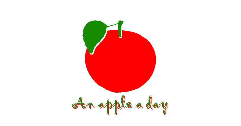 An apple a day by koalafruit on Threadless