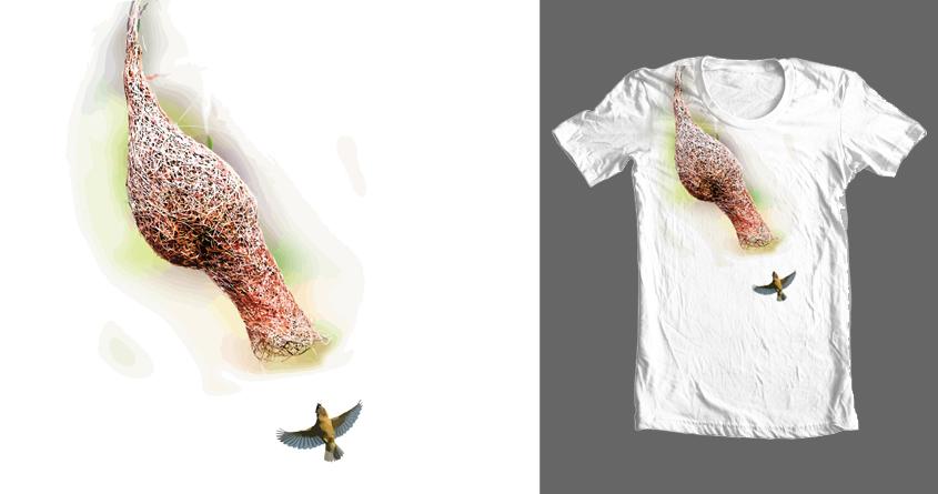 Birds N Twigs - Windy Weaver by Michelsohel on Threadless