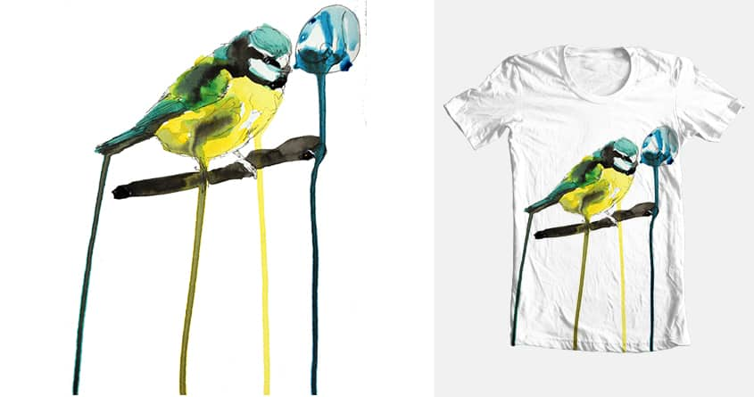 Blue Tit by dillonbrannick on Threadless