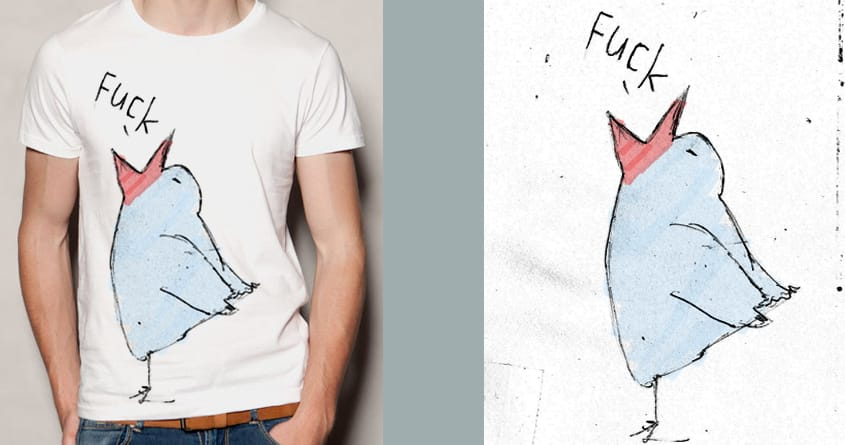 "sometimes ""fuck"" is the only word that fits by luzonmail on Threadless"