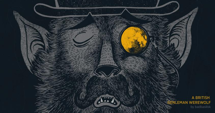 A British Gentleman Werewolf by badbasilisk on Threadless