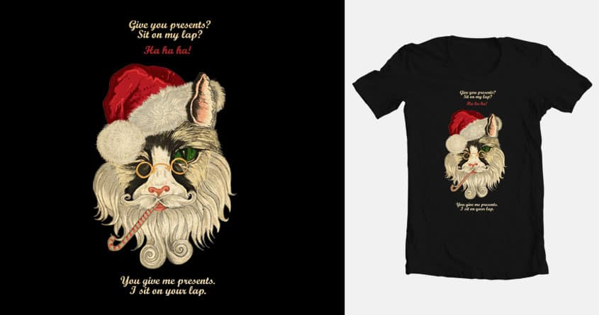 Santa cat by annavera2001 on Threadless