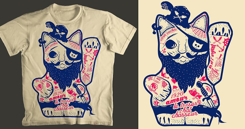 Lucky Cat Pirate by shesmatilda on Threadless