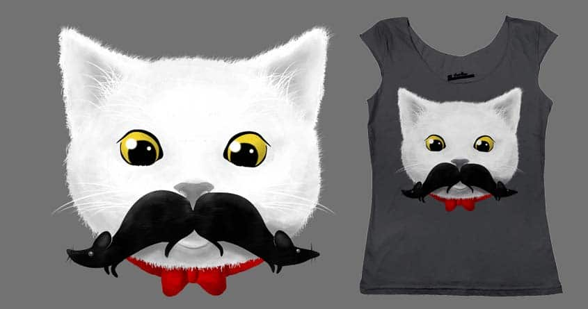 Mr. Cat's Mouse-tache by rejagalu on Threadless