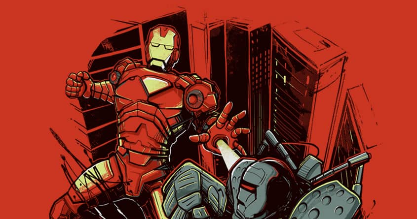 Clash of Armors by iamrobman on Threadless