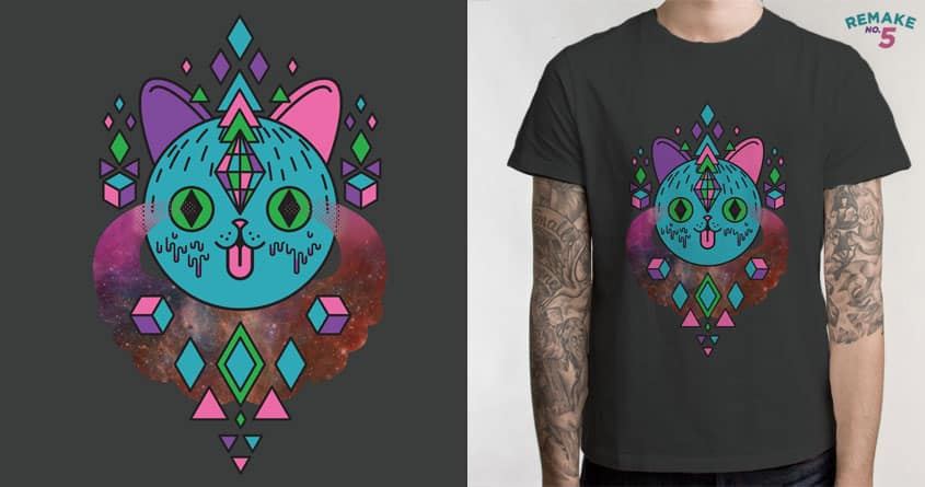 Space Kitty by quick-brown-fox and sweet n sour on Threadless