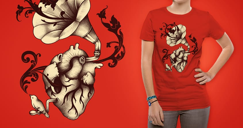 Listen To Your Heart by buko on Threadless