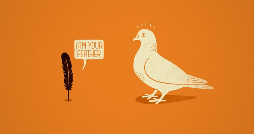 I AM YOUR FEATHER by QuietCity on Threadless