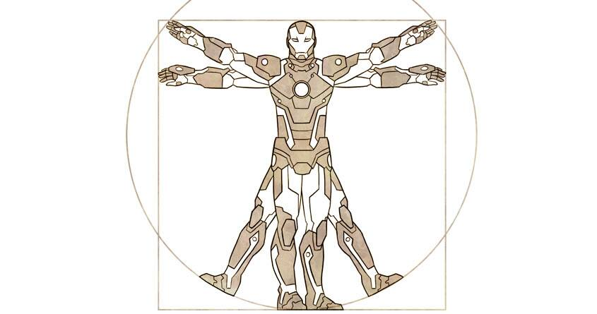 VitruvIron Man by joe-wright on Threadless